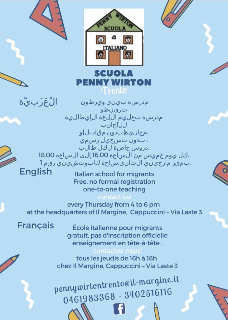 PW volantino Trento multilingue