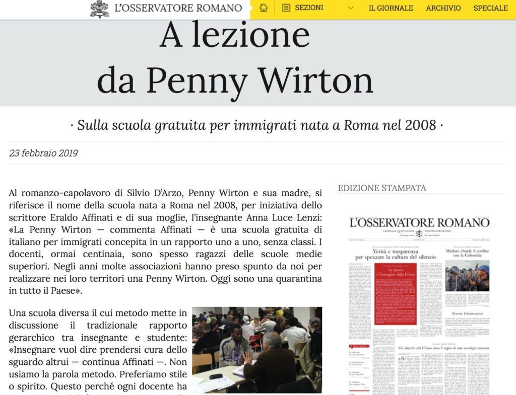 Osservatore Romano 23 febbraio 2019