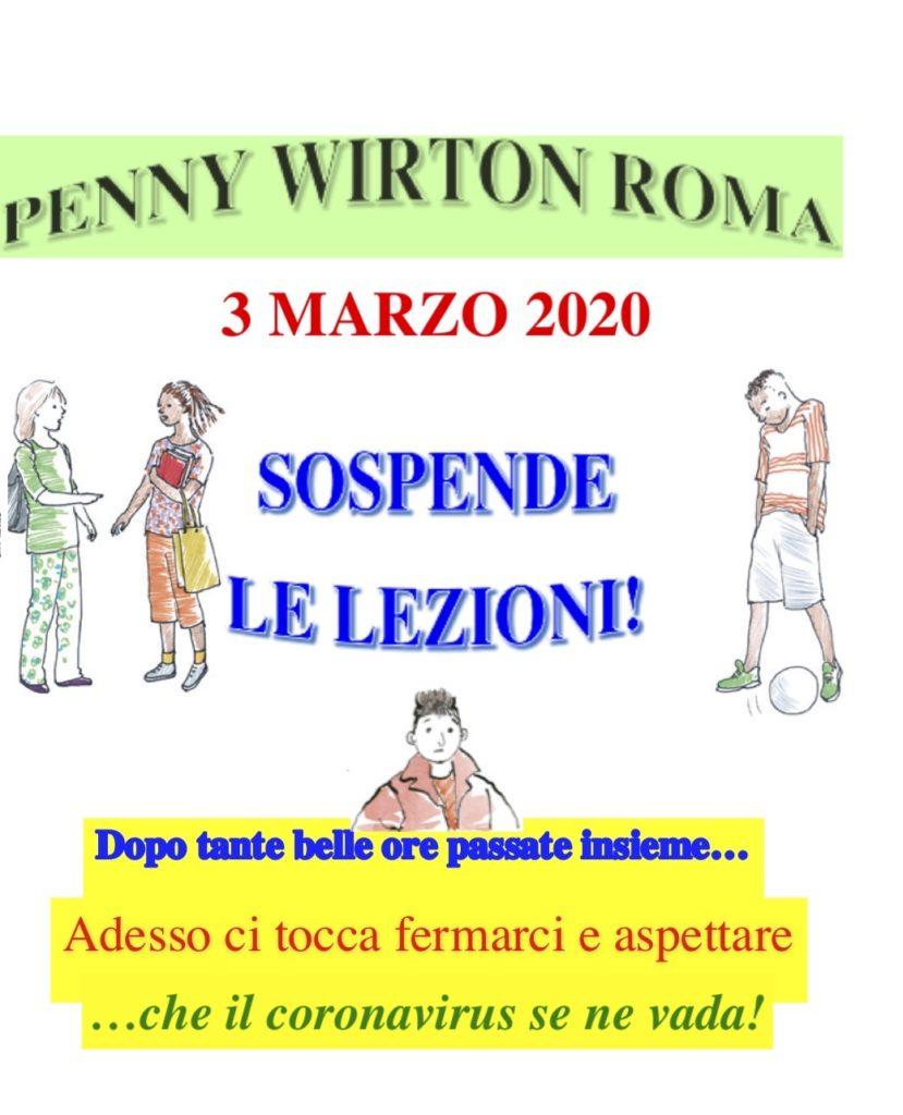 Penny Wirton SOSPENDE le lezioni